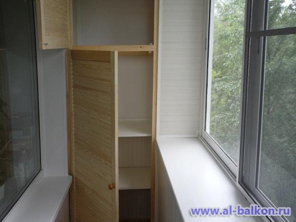 Удобный и красивый шкаф на балкон 40 37