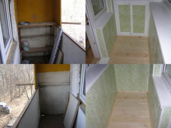 Отделка балкона - посмотреть примеры работ